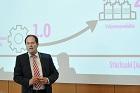 """""""Industrie 4.0 - Die Zukunftsmärkte folgen Megatrends"""" war der Titel der Keynote von Prof. Thaler"""