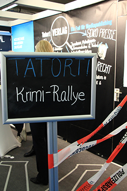 ›Krimi-Ralley‹ am Mediapublishing-Stand.
