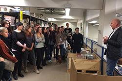 Die HdM-Studierenden mit BroCom-Geschäftsführer Matthias Heinrich