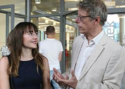 Joanna Rietl und Studiendekan Prof. Ulrich Huse (Foto: jal)