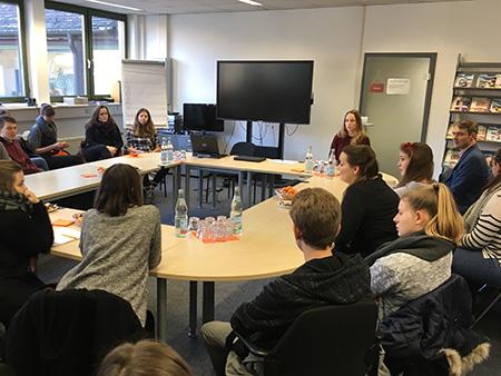 Das 3. Semester Mediapublishing zu Gast bei Helbling
