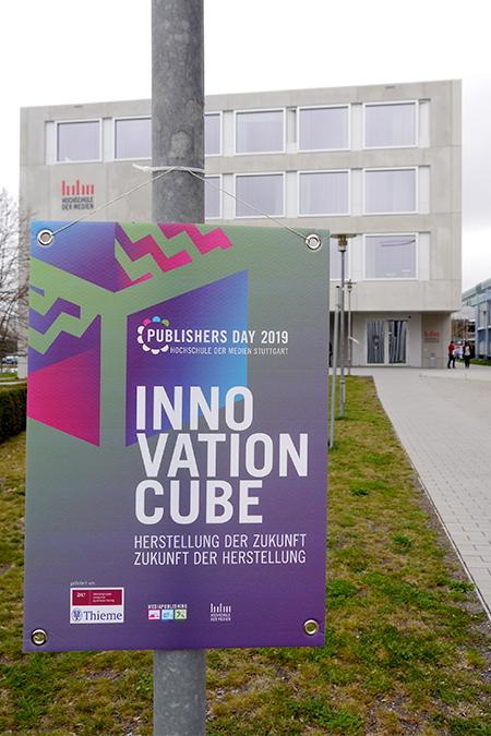 """Veranstaltungsort war der """"Cube"""" an der Hochschule der Medien. (Foto: sk273)"""