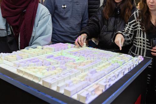 Projekt CityScope auf der MediaNight. Foto: Florian Müller