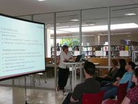 Präsentation des Studiengangs BIM durch Prof. Ingeborg Simon