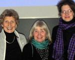 Gullvor Elf (Mitte), mit Ingeborg Simon (li) und Katrin Sauermann (re)