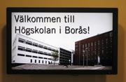"Hochschule Borås - ""Willkommen""-Monitor im Foyer"