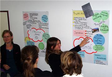 Großes Interesse an den Posterpräsentationen der Studierenden