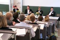Diskussionsrunde mit Verlagsvertretern