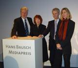 Prof. Peter Voß, Rieke Müller-Kaldenberg, Prof. Dr. Horst Heidtmann, Dr. Ulrike Bischof  (v.l.)