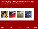 "Website des Master-Studiengang ""Packaging Design and Marketing"""