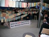 Studierende demonstrieren gegen Sparmaßnahmen