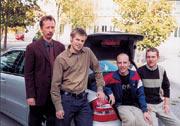 Lothar Krank, Alcatel SEL (links) mit Projektteam