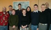 Das studentische Team mit Projektleiter Prof. Stephan Ferdinand (2.v.l.)