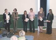 Die Gewinnerinnen des Hermann-Waßner-Preises und des Sonderpreises der Freunde und Förderer der Hochschule