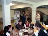 Die Projektgruppe bei der Arbeit