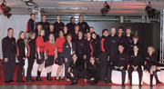 Das HdM-Messeteam in Uniform, unterstützt vom Modekolleg Holzenbächer aus Stuttgart