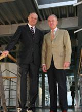 Prof. Christian Gerloff und Prof. Dr. Uwe Schlegel (v.l.)