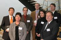 Dr. Kolja Rudzio, Michael Prellberg, Janko Tietz, Dr. Anton Notz (oben, v.l.) Prof. Dr. Petra Grimm, Gabriele Fischer, Prof. Dr. Wilfried Mödinger (unten, v.l.)<br><i>Foto: Ellen Brüx</i>