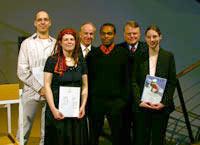 Rainer Rickborn, Ellen Schweigert, Prof. Dr. Uwe Schlegel, Wilfrid Rollé,  Dr. Hartmut Sandig, Juliane Dreßler (v.l.)