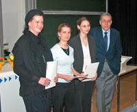 Katrin Sauermann, Regina Männle, Juliane Dreßler, Prof. Andreas Papendieck (v.l.)