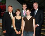 Dr. Hartmut Sandig, Lisa Grözinger, Dr. Christoph-E. Palmer, Kerstin Henning, Dr. Uwe Schlegel (v.l.n.r.)