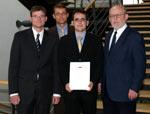 Matthias Heymann, Tim Jennerjahn, Tobias Hertle und Prof. Axel Ritz
