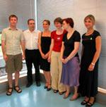 Die ersten Informationsdesigner: Martin Burkart, Jürgen Martin Schiel, Isabel Weissbrodt, Friederike Länge, Trixy Freude, Mildred Schill