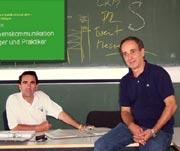 Zwei der  SummerSchool-Referenten: Prof. Dr. Franco Rota und Prof. Dr. Wolfgang Fuchs