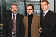 Prof. Dr. Gunter Hübner, Denis Erath, Tim Jennerjahn (v.l.) (Foto: HdM Stuttgart)