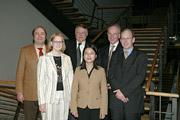 Prof. Dr. Wolfgang Faigle, Gesa Krauss, Dr. Hartmut Sandig, Li Gu, Prof. Dr. Uwe Schlegel, Prof. Dr. Joachim Niemeier (v.l.) (Foto: Michael Vitz/HdM Stuttgart)