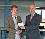 Lukas Liske (links), Projektteam, und Jürgen Rudolph, Geschäftsführer Morgengold