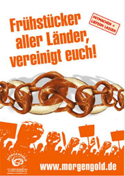"Plakatmotiv der Kampagne ""Frühstücksrevolution"""
