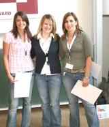 Die strahlenden Sieger (v.l.n.r.): Jana Seyfang, Sophie Wittl und Jenny Keicher
