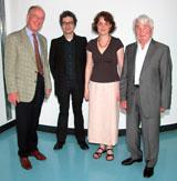 (v.l.n.r.) Prof. Dr. Uwe Schlegel, Denis Erath, Isabelle Reichherzer, Adolf I. Döpfert