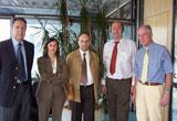 (v.l.n.r.) Prof. Dr. Rafael Capurro, Prof. Fernanda Ribeiro, Prof. Armando Malheiro, Prof. Dr. Wolfgang Faigle, Prof. Dr. Uwe Schlegel