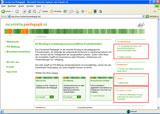 Die Startseite des Fachportals Pädagogik mit ersten, im Bild markierten Änderungen.