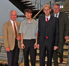 Prof. Dr. Uwe Schlegel, Ronald Kutschke, Armin Höger und Dr. Hartmut Sandig (v.l.n.r.)