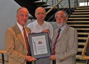 Prof. Dr. Uwe Schlegel, Prof. Dr. Rainer Nestler und  Dr. Wilhelm Neubauer (v.l.n.r.)