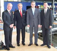 Prof. Dr. Uwe Schlegel, Dr. Bernd Kobarg, Dr. Dietrich Birk, Prof. Dr. Alexander W. Roos (v.l.)