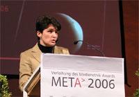 Tanja Gönner, Umweltministerin des Landes Baden-Württemberg, bei der Preisverleihung - Zur Detailansicht