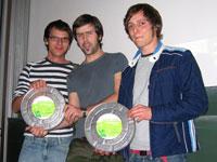 Jörg Edelmann, Marc Schleiss und Daniel Faigle (von links)
