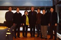 Die Gäste aus China  mit Prof. Eberhard Wüst (Mitte)