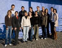 Die Projektgruppe von Prof. Ulrich Huse (2. v.r.)