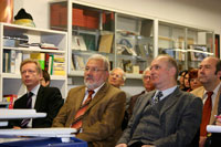 Manfred Minich (Geschäftsführer MBO), Volkmar Assmann (Geschäftsführer Baumann) und Professor Dr. Rainer Nestler