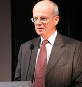 Professor Dr. Peter Frankenberg, Minister für Wissenschaft, Forschung und Kunst in Baden-Würrtemberg würdigte die Arbeit des META - Zur Detailansicht