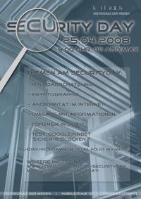 "Plakat ""SecurityDay 2008"""