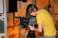"""Dreharbeiten zum Kurzfilm """"Schau hinter die Fassade"""" im Oktober 2007"""