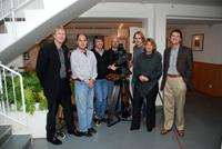 HdM-Professoren Rolf Coulanges und Katja Koeppl sowie Peter Ruhrmann mit Arri-Vertretern in München
