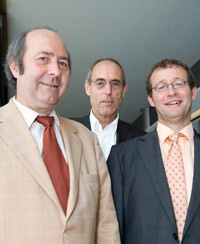 Der neue Stiftungsvorstand: Prof. Dr. Wolfgang Faigle, Dr. Norbert Gangl und Prof. Dr. Alexander W. Roos