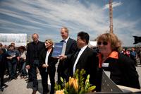 Dirk Thürnau, Dr. Susanne Eisenmann, Dr. Wolfgang Schuster, Prof. Dr. Eun Young Yi,  Ingrid Bussmann (v.l.)  (Foto: Stadtbücherei Stuttgart/HdM)